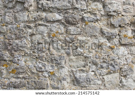 Close-up view of cobbled wall - stock photo