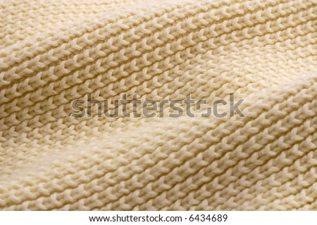 Close-up view of knitted fabric - stock photo