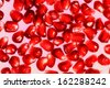 Close up view of pomegranate seeds - stock photo