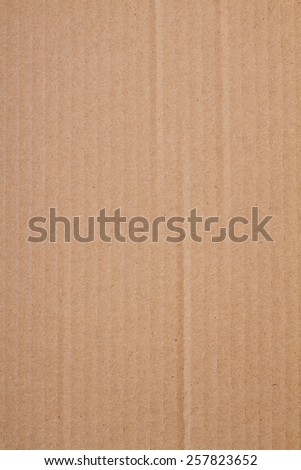 Close up view of recycled brown cardboard texture. - stock photo