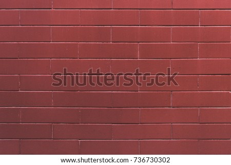 close-up view of red empty brick wall textured background