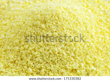 Close up view of sulfur - stock photo
