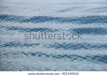 Close up water surface and motion blur