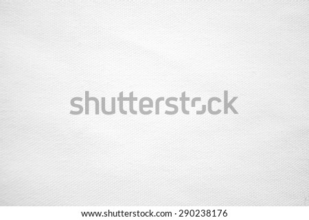 Close up white color muslin canvas cloth texture