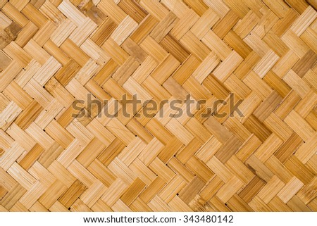close up woven bamboo pattern