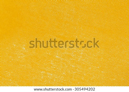 Close up yellow color off set printing paper texture - stock photo