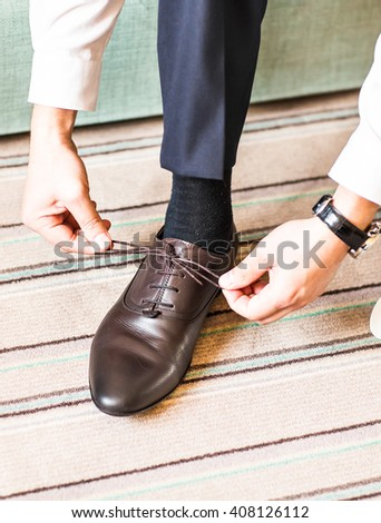 Foot Boy Girl On Sidewalk Tile Stock Photo 425892772 ...