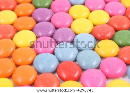 close-ups of colorful candies - background
