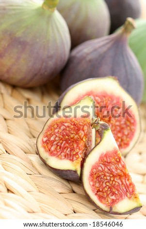 close-ups of fresh figs - food and drink