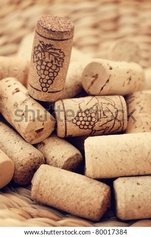 close-ups of wine corks backgrounds