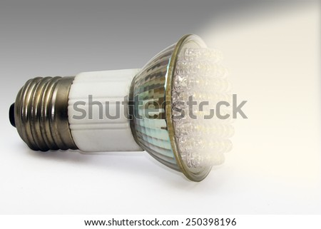 Close view of a diode bulb light - stock photo