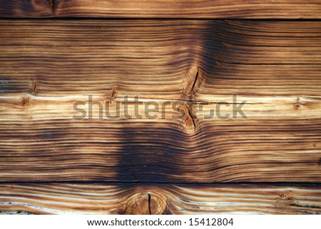 Close view of a wooden background - stock photo