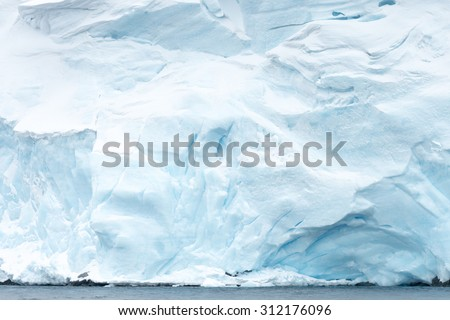 Close view of the icebergs in Antarctica - stock photo