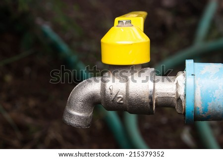 Close water tap - stock photo