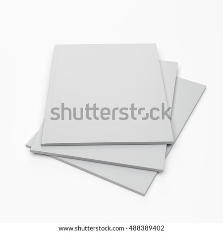closed A4 format catalogs or magazines isolated. 3D rendering