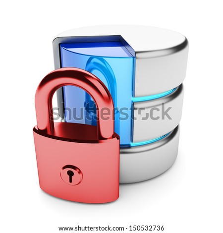 Closed access to the data storage. Information privacy concept. - stock photo