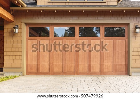 Brown Garage Doors With Windows garage door stock images, royalty-free images & vectors | shutterstock