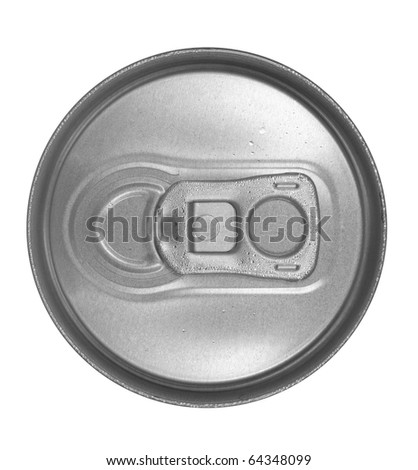 Closed can top - stock photo