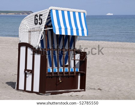 Closed Canopied beach chair