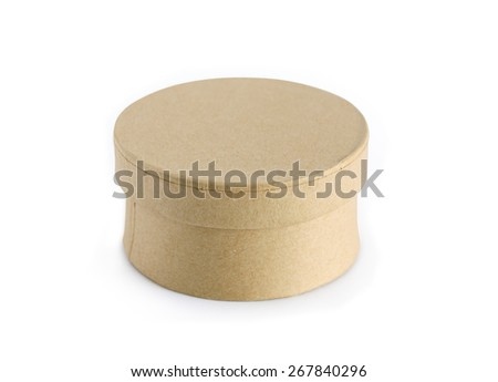 Closed cardboard box on white background. Clipping path is included - stock photo