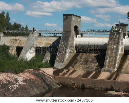 Closed dam constructed in thirtieth years of 20th century in Finland
