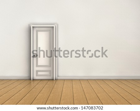 Closed door - stock photo