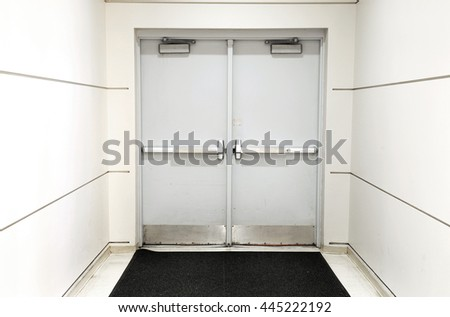 closed door of the building