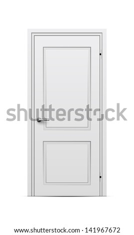 Closed door. Raster version - stock photo
