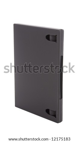 closed dvd case isolated on white background - stock photo