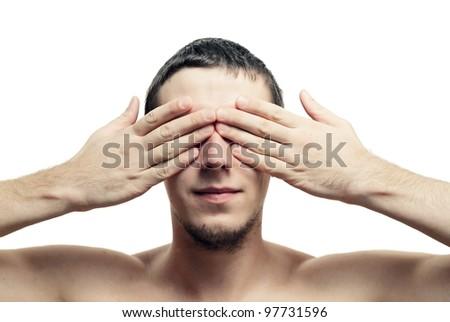 Closed eyes - stock photo