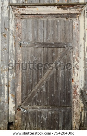 Closed hinged batten door of snow covered-fully ruined-abandoned-paint faded wooden & Battens Stock Images Royalty-Free Images \u0026 Vectors   Shutterstock Pezcame.Com