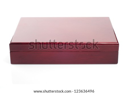 Closed humidor isolated on white background - stock photo