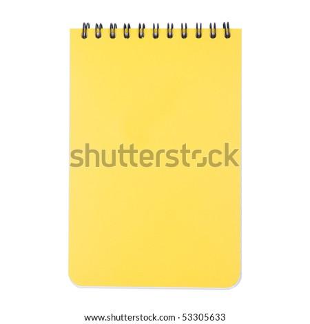 Closed Notepad Isolated on White Background - stock photo