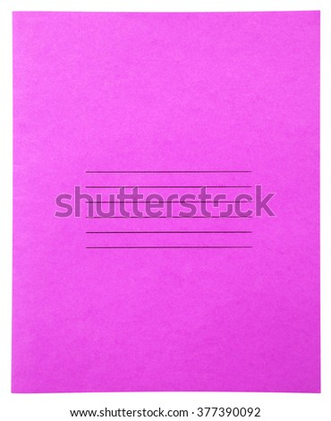 Closed pink notebook isolated on white background with clipping path - stock photo