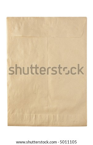 closed rude envelpe for documents - stock photo