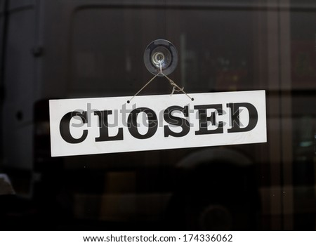 Closed Sign on a door - stock photo