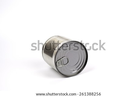 Closed tin can isolated on white background.  - stock photo