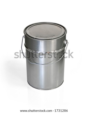 Closed tin can (w clipping path)