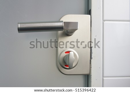 Closed toilet door. Toilet Occupied Stock Images  Royalty Free Images   Vectors