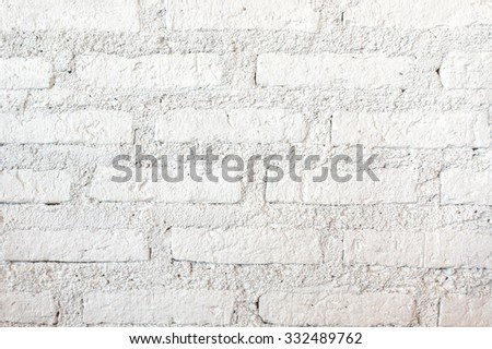 Closed up Texture / Pattern of white brick wall, for background, wallpaper - stock photo