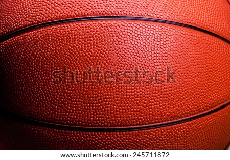Closed up view of orange basketball for background - stock photo
