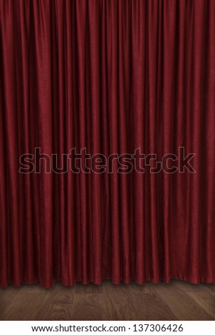 closed velvet theater curtain
