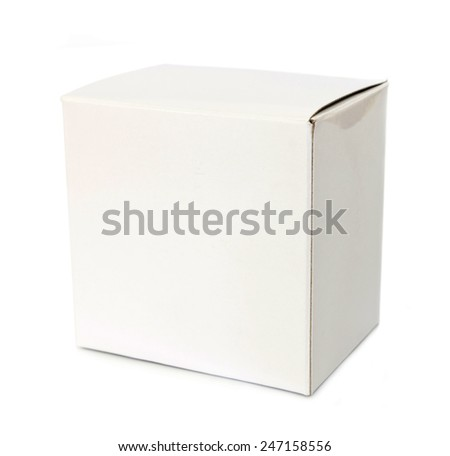 Closed white box - stock photo