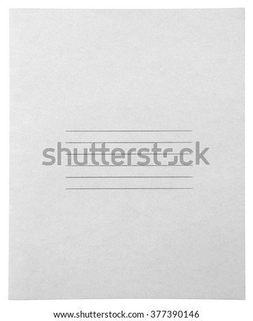 Closed white notebook isolated on white background with clipping path - stock photo