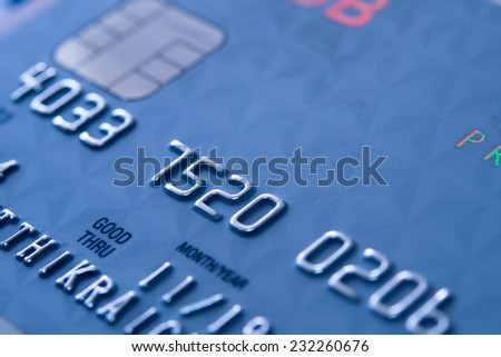 Closer Up Credit card for Background