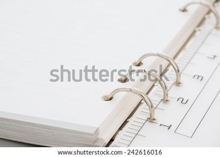 closeup a ruler in document file - stock photo