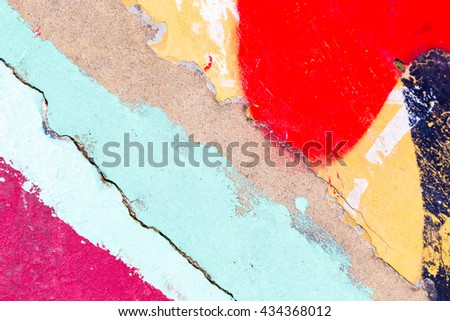 Closeup abstract painted wall of the city. Street art graffiti creative colors urban culture. - stock photo