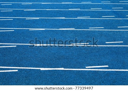 closeup and cutout of a running track - stock photo