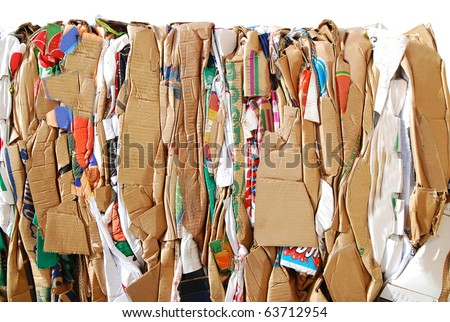 closeup at waste paper background - stock photo