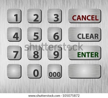 Closeup ATM buttons - stock photo